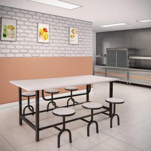 Mesa para Refeitórios com banquetas - Cod.: RF-003